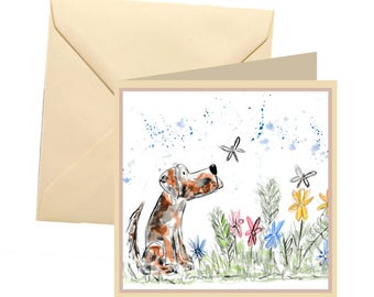 Dog greetings card, blank card, greetings card, birthday card, dog card, note card, thank you card, dog note card, dog lovers