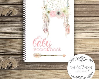 Baby Record Book - Girl - Floral Dreamcatcher - Basic