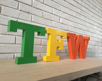 Multiple colors Metal Letters Wall decor letters Wall letter Letter metal Wall lettering Wall letters Metal wall hanging Wall decor