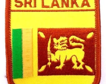 Sri Lanka Embroidered Patch
