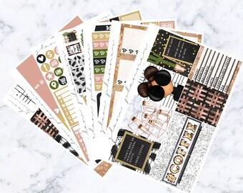 PRE-SALE! Barista Luxe Kit (Glam Planner Stickers for Erin Condren Life Planner)