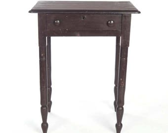 Antique Side Table Etsy