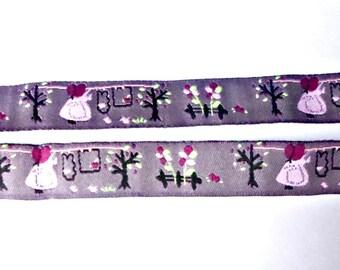 9 m polyester, patterns, fancy, 16 mm Ribbon trim