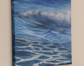 Ocean Waves, Beach Painting, Coastal Landscape, Original Ocean Painting, Seascape, Ocean Art, Florida coast, Nautical Wall Decor, Lifelines
