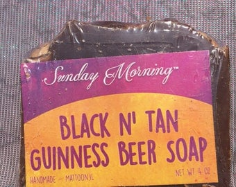 Guinness Black & Tan Beer Cold Process Soap