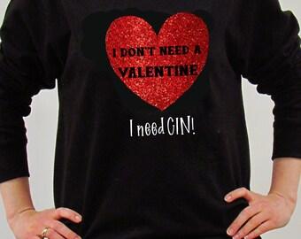 Valentine's Sweatshirt, Valentine's Day Cheeky Jumper, Valentine's Day Gift