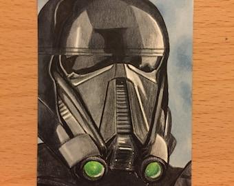 Star Wars Rogue One Deathtrooper Sketch Card