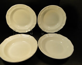 """FOUR Mikasa French Countryside Salad Plates 8"""" White Dessert F9000 Set of 4 EXCELLENT!"""