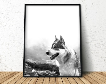 Wilderness Poster, Forest Print, Forest Animal, Wolf Posters, Wolf Print, Wolf Mountains, Large Printable Poster, Wilderness Wall Art
