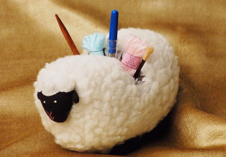 Lantern Moon Sheep Sherpa Needle Holder Needle Caddy