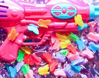 Rainbow Butterfly 90's 00's kawaii grunge pastel hair clip