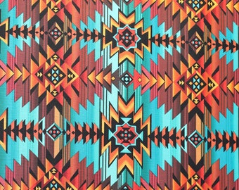 West is a Southwest pattern printed on cotton by Timeless Treasures.