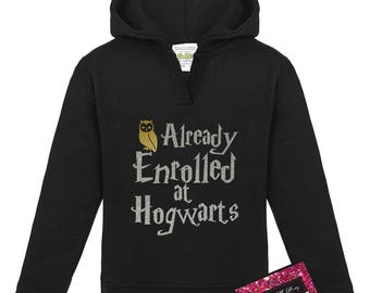 Glitter Geek Baby Hoodie - Harry Potter Enrolled At Hogwarts