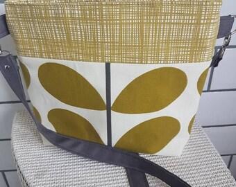 Ladies Crossbody convertible handbag Orla Kiely fabrics