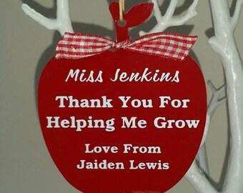 Thank you for helping me grow, Thank you Teacher, Best Teacher, End of Term Teacher Gift, Teacher Decoration, Teacher Keepsake Gift
