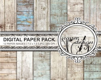 Shabby chic scrapbook, vintage paper, wood, rustic wood, wood grain, textures printable background Scrapbook #06