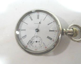 1907 Waltham Pocket Watch 7 Jewel Size 18 55mm Running