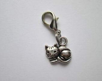 Cat pendant of charms charm bracelet change pendant nickel free