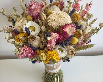Dried flower brides bouquet