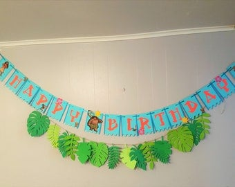 Moana Banner - Moana Birthday Party -  Moana Decorations- Moana Party - Maui - Moana Party Decor - Moana Birthday Banner