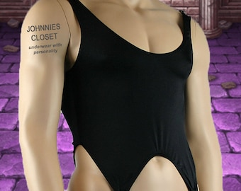 Mens Corset Top with Metal Clips