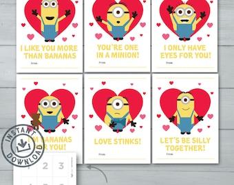 Kids Valentine Cards | Minions Valentines | Despicable Me Minion, Kevin,  Stuart, Bob