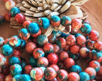 Round Jade beads, gemstone jewelry making round beads, mixed color beads, multi color beads, 10mm beads, jewelry beads