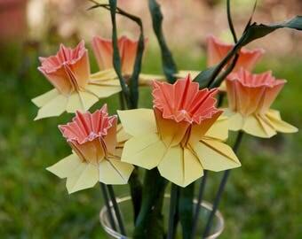 Origami Daffodil Bouquet (1/2 dozen)