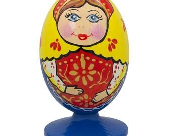 "3.5"" Russian Nesting Doll Matryoshka Wooden Figurine"
