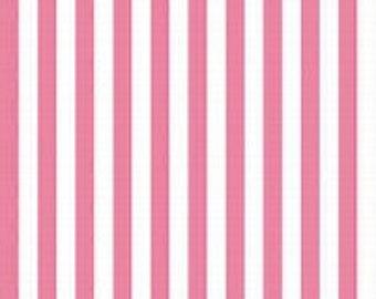 Half Inch Stripe - Color Hot PInk- 100% Premium Cotton Fabric (Riley Blake Fabrics C350-70 HOTPINK)