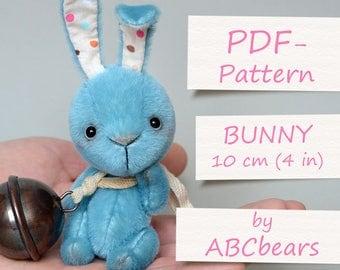 "Miniature Teddy Bunny Pattern. Teddy Pattern. Teddy bear bunny. Soft toy pattern. Teddy tutorial. Teddy bear tutorial (4""/10cm)"