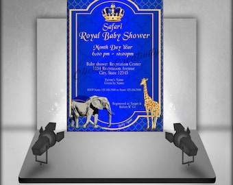 Safari Royal Baby Shower Invitation