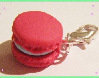 Charm's macaron polymer clay jewelry clay raspberry mint ice