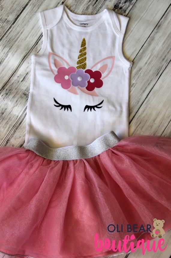 Unicorn Birthday Onesie Free Personalization Unicorn Outfit