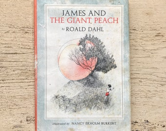 free domestic shipping--James and tbe Giant Peach by Roald Dahl 1961