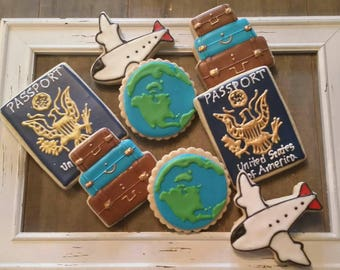 Travel cookies - Foreign Exchange Student Cookies - 1 Dozen
