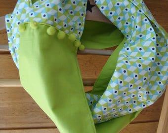 Vintage green pattern Snood