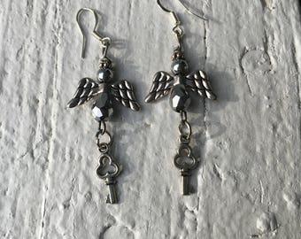 Angel & Key Earrings