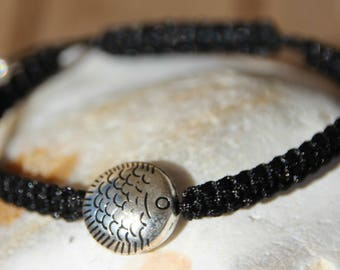 shamballa bracelet with fish connector