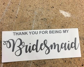 Vinyl Decal for Wedding Party Thank You Box **Decal Only**