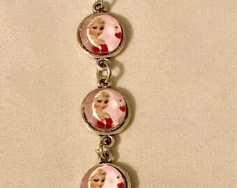 "Handmade adjustable Frozen Elsa chain Bracelet @ 4.75""-6.75"""