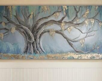Custom Oak Tree Painting