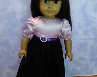 Purple holiday dress for American Girl and My Generation