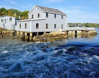 Gulph River rapids, Cohasset, MA, coastal, New England, Massachusetts, South Shore, Boston, cottage decor, harbor, archival print signed