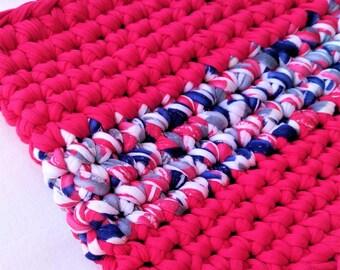 Trapillo bag/Handmade crocheted bag/Boho bag/Clutch