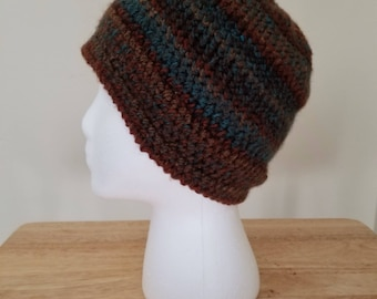 Medium crochet beanie-multi-color