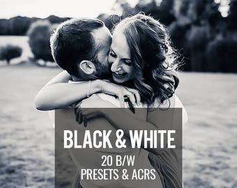 Lightroom Presets, Black and White Presets, Editing Presets, Lightroom Adobe Camera Raw, Photographers Presets, 20 Black and White Presets