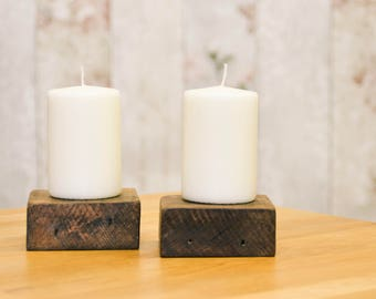 Hand made pallet candle