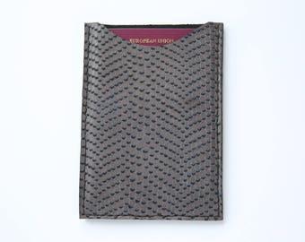 Handmade Printed Leather Passport Case