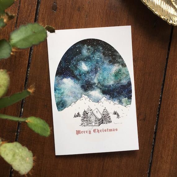 Starry Sky Christmas Card